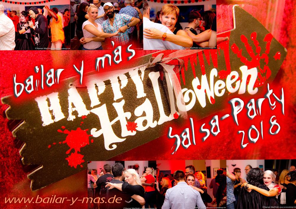 bailar y más Halloween-Salsa-Party